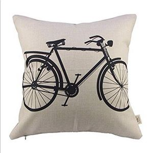New Bicycle Pillow Cover
